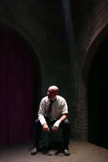 Berenger (Brian Bolton) is bewildered by the world around him