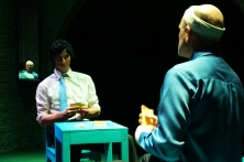 Duddard (James Hammond) considers the next play against Berenger (Brian Bolton)